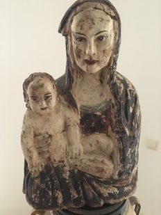 Maria with infant / wood / Belgium / '50s