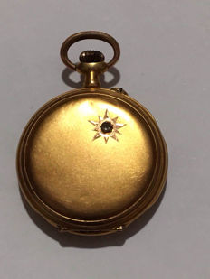 Savonette gold pocket watch.