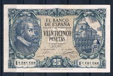 Spain - 25 pesetas from 1940 - Pick 116a