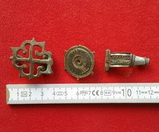 Roman Empire - lot with 3 special fibulae