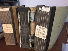Book of archives with yarn-died woollen fabrics - dated in the winter 60