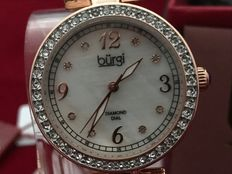 Burgi Diamond Dial Rose Gold – women's wristwatch – never worn, in new condition