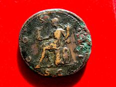 Roman Empire - Hadrian (117 - 138 A.D.), bronze sestertius ( 25,24 g. 32 mm) from Rome mint, 125 - 128 A.D. COS.III. S/C