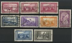Monaco 1933-1939 - Country views and Princes of Monaco - Yvert n° 127/34 and 185/94 Used