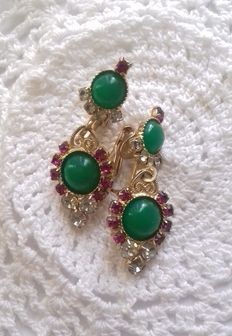 Juliana D&E vintage clip earrings New York 1950-1955