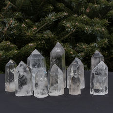 Rock crystal points - 6.5 to 11 cm - 1.280kg (10)