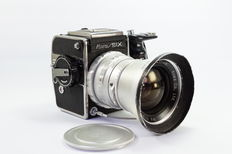 KOWA Six with 55 mm f/3.5 wide-angle lens and accessories