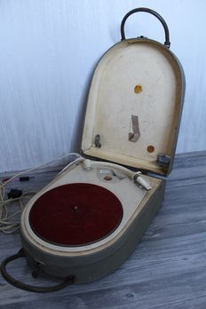 Philips AG2141 - case gramophone in Dandy design, also called ladies purse (1955)