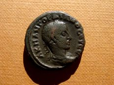 Roman Empire - Gordian III (238-244 AD) billon tetradrachm (13,13 g. 22 mm), Alexandria, Egypt, 238-239 AD.