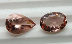 Lot of 2 Morganite - 5.19 ct