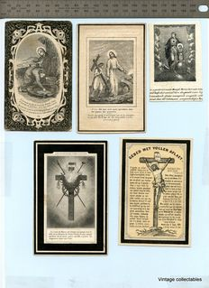 Collection of 125 antique prayer cards 1840 / 1910 - in memoriam cards - prayer cards - memorial cards - images pieuses - Sterbebilder