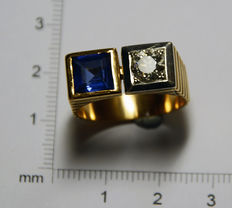 Chevalière style yellow gold ring 253.4