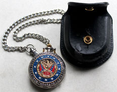 """Franklin Mint - """"General Robert E. Lee"""" pocket watch with chain"""