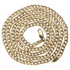14 kt yellow gold curb link necklace, 61 cm