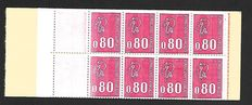 France 1974 – Variety of non-printed stamps – Yvert notebook no. 1816c 3a
