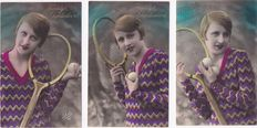 """Fantasy-Nostalgia-120 x-Theme """"woman in the 1920's/1930's""""-with a number of beautiful Series"""