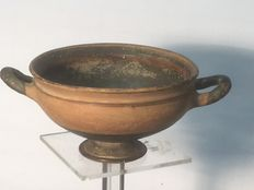 Kylix -  large clay bowl - Sicily - 190mm x 85mm, very good condition