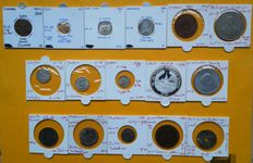 World – Collection of various coins 1557-1578/1996 (16 different ones) – silver