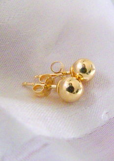 Ear stud bead 18 kt 750 gold - no reserve