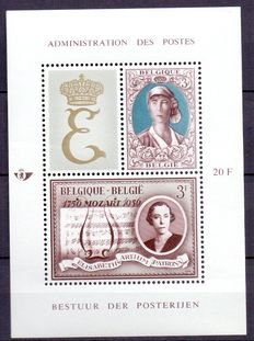 "Belgium 1966/2007 - ""Royal Family"" - Thematic composition with blocks and stamps"