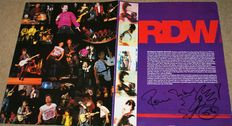 The Rolling Stones: Vintage Concert 1968 Ronnie Wood signed with doodle Concert Program Pages with COA