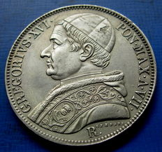 Papal States – Scudo, 1837, Rome, Gregory XVI – silver