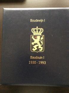 "Belgium 1935/2002 - Theme ""Royal Family"" - Collection King Baudouin and Belgian Royal Family in 2 Davo albums"