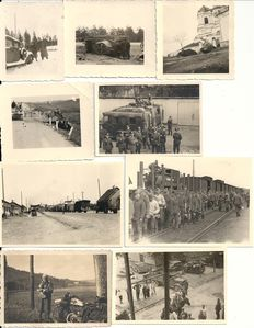 Third Reich; Lot of 62 x original photos of the Wehrmacht Belgium, Netherlands, France, Russia WW II