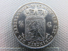 The Netherlands – ½ guilder 1857 Willem III – silver