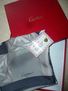 Cartier - 'Must' Silk Scarf.