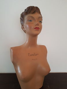 Realistic advertising bust 'Champs Elysees Paris' France