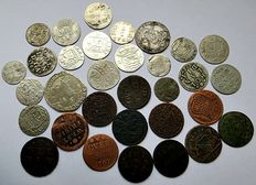 Provincial - Duit up to and including Rijderschelling 1676/1791 (32 coins) - including silver