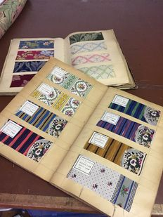 Two albums containing furniture textile samples - from the beginning of the twentieth century