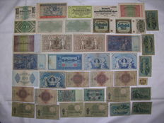 Lot of 40 old German Reich banknotes around 1920 to 1930 (40-2)