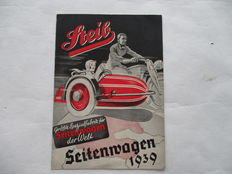 STEIB Seitenwagen - Original old sidecar folder - Germany 1939