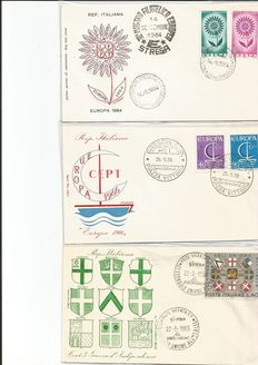 Italy – 260 first day cover envelopes – 1964, 1966,1967, 1968, 1969, 1970, 1971, 1972, 1973, 1993, 1994
