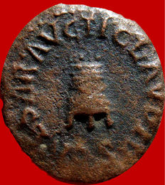 Roman Empire - Claudius I (41 - 54 A.D.) bronze quadrans (1,94 g. 17 mm.) - 42 A.D. - Rome. Modius / S.C.