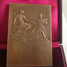 Plaque in silver plated bronze