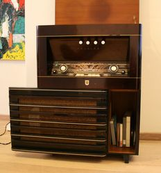 Antique radio with built-in tape recorder Philips 1957