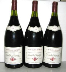 1988 Nuits Saint-Georges, Jean-Luc Aegerter, Lot of 3 Magnums 1.5 L.