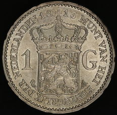 The Netherlands – 1 guilder 1913 – Wilhelmina – silver