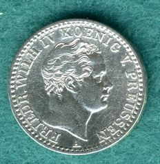Prussian - 1/6 Thaler 1849 A - silver