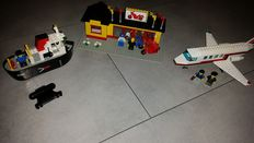 Classic Town - 4005 + 6368 + 6373 - Tug Boat + Jet Airliner + Motorcycle Shop
