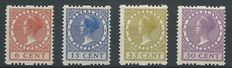 The Netherlands 1925 – Two-sided syncopated perforation – NVPH R7, R12, R14, R15