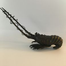 Bronze lobster - Japan - early 20th century