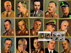 """330 collectible picture cards / 60 pictures """"Who leads the Third Reich"""" from 1934 - 270 pictures """"The World War"""" from 1914-1918 - around 1934 - Cigaretten Bilderdienst"""