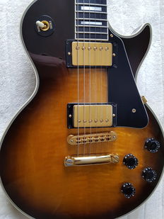 Gibson Les Paul Custom Tobacco Sunburst - USA - 1991 + Gibson hardcase