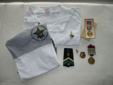 France-Foreign Legion-rank epaulette, polo shirt, sports shirt medals, pin and medal