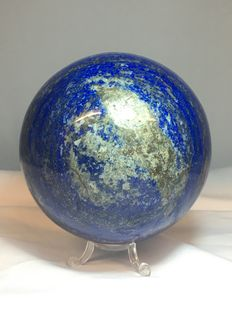 Hand-polished Lapis Lazuli sphere - 120mm - 2880gm