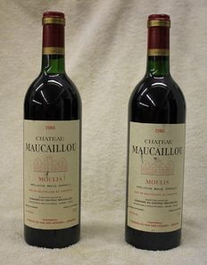 1986 Chateau Maucaillou, Appellation Moulis controllee, 2 bottles